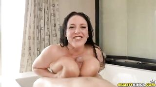 Cum Sluts: ANGELA WHITE uses her breasts to finish him off!