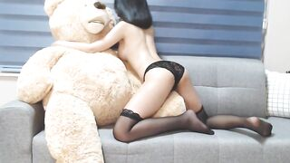 Cum Tribute Oriental Gals: She can't live without Her Teddy Bear