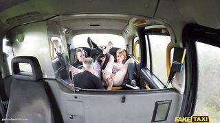Drunk: 1 - Taxi Driver Copulates 2 Chicks - pornstars Piggy Throat and Azura Alii